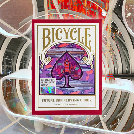 Holographic Gilded Bicycle Future Bar Cards